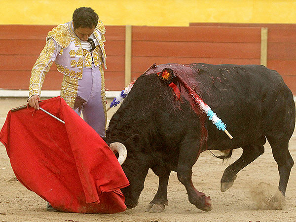 Angelino y Jer�nimo cortan oreja en Tlaxclala